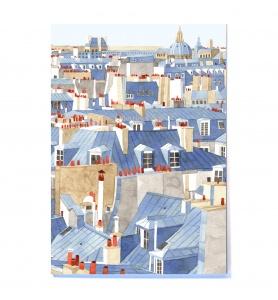 CARNET A5 TOITS DE PARIS