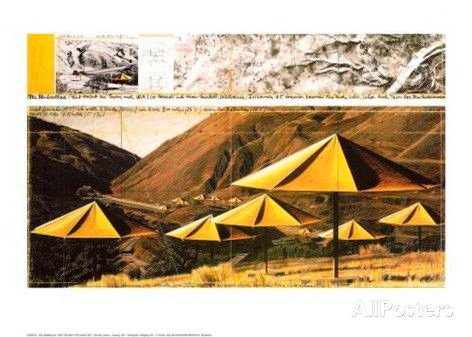 CHRISTO THE UMBRELLAS YELLOW 51*49