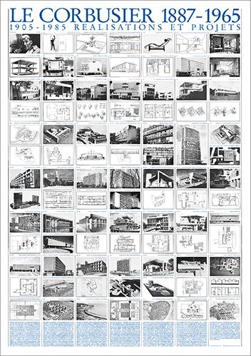 LE CORBUSIER REALISATIONS ET PROJETS 1905-1985 69.5*99.5