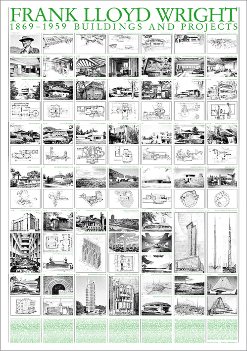 LLOYD WRIGHT BUILDINGS AND PROJECTS 1869-1959 69.5*99.5
