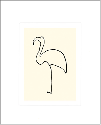 PICASSO, LE FLAMAND ROSE, SERIGRAPHIE, 50X60