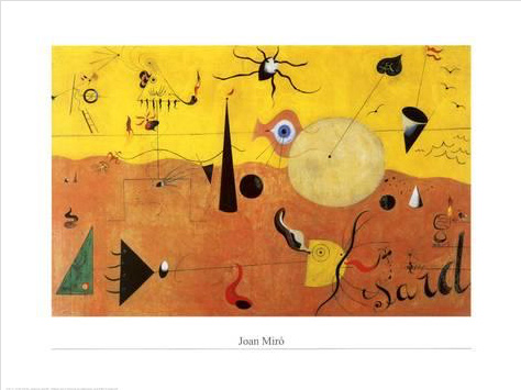 MIRO, PAYSAGE CATALAN (LE CHASSEUR), 60X80