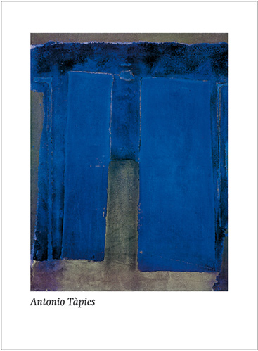 TAPIES COMPOSITION ULTRAMARINE 60*80