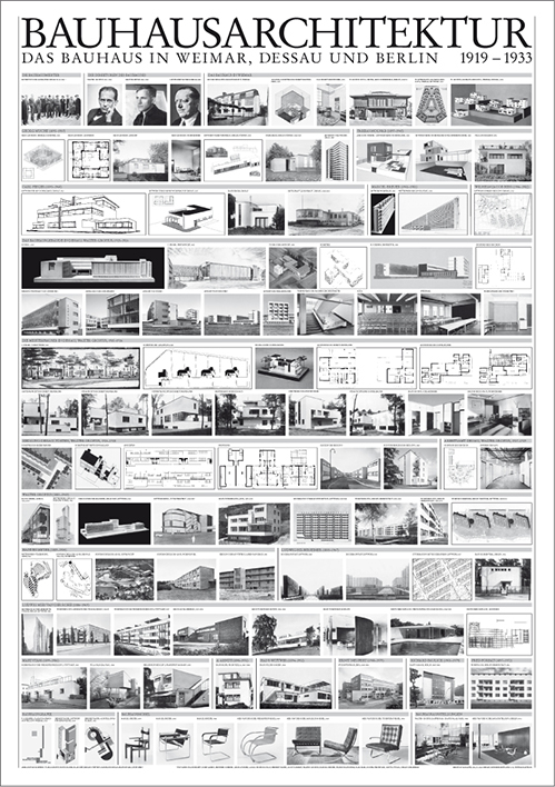 BAUHAUS ARCHITEKTUR 1919-1933 69.5*99.5