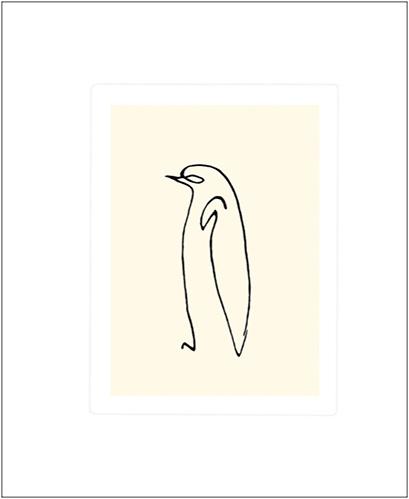 PICASSO, LE PINGOUIN, SERIGRAPHIE, 50*60