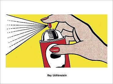 LICHTENSTEIN SPRAY 1962 60X80