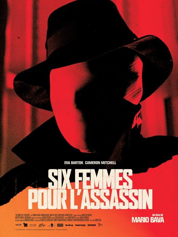 AFFICHE // SIX FEMMES POUR L'ASSASSIN 40 X 60