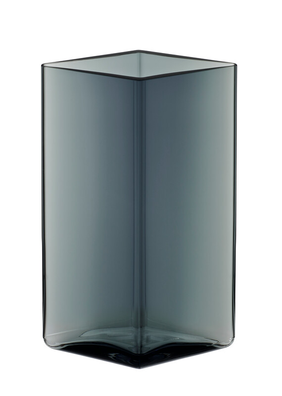 VASE RUUTU GREY 115X180 MM