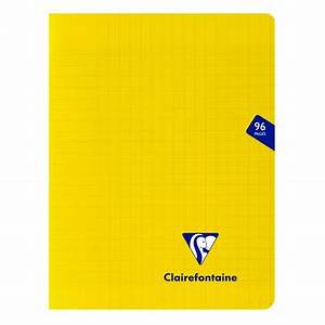 CAHIER POLYPRO 17*22 - 96 PAGES - GRANDS CARREAUX - CLAIREFO